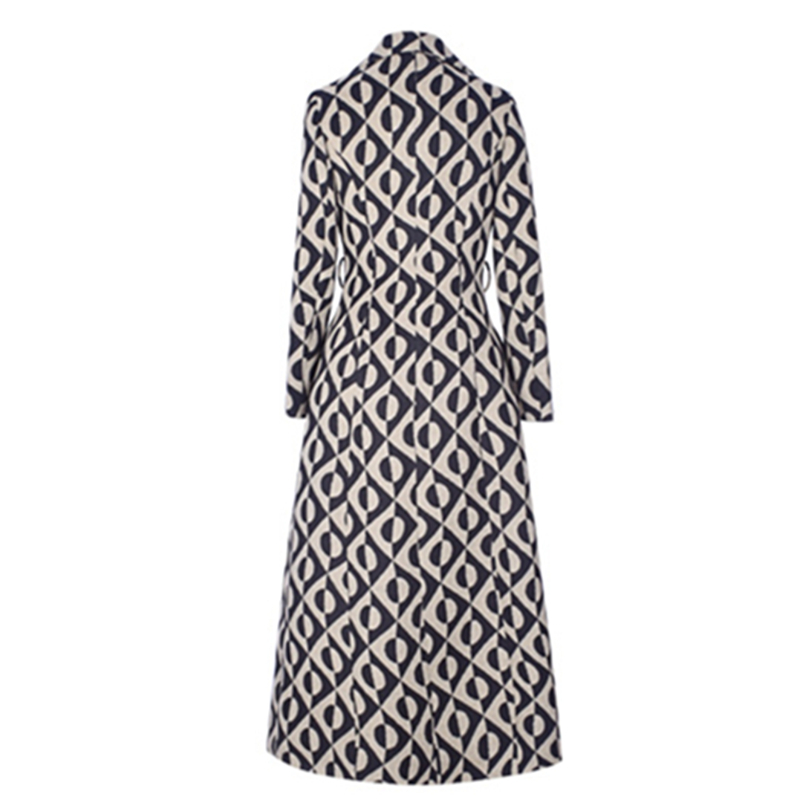 Mezcla E De Cálido Mujer Las Impresión Invierno Larga 2019 Ropa Otoño Dot Abrigos Mujeres Abrigo Diseño Oficina Nueva Lana Espesar 5xvf0w