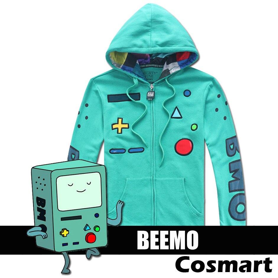 Stock Tv Adventure Time Cute Beemo Zipper Head Hoodie