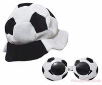 Sport Coupe Du Monde de Football de Football Chaud Chapeau Partie Costume Coiffe Cap Lunettes 2 PC
