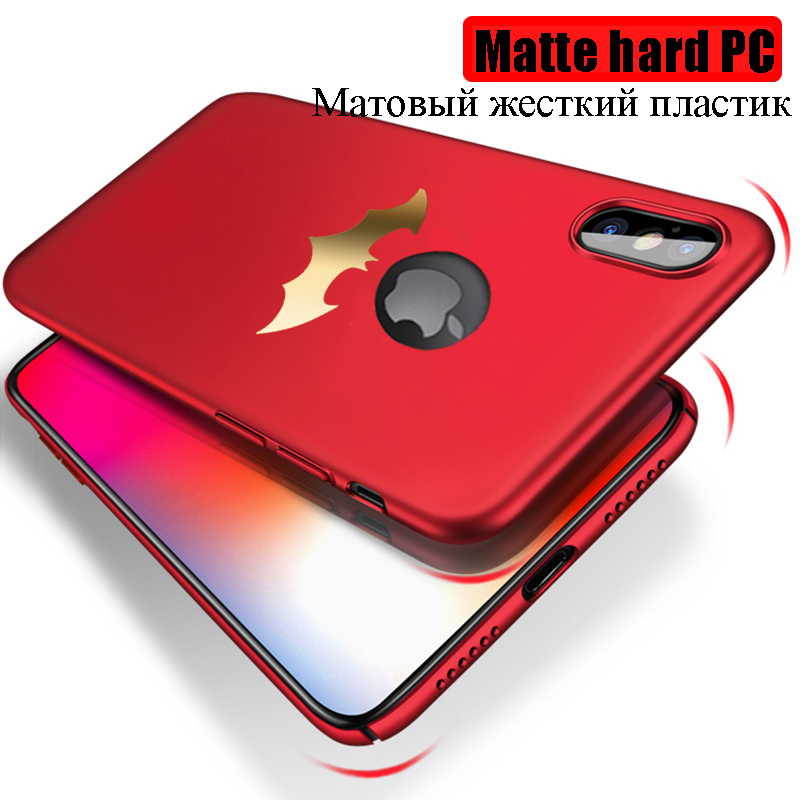 Ultra Thin Batman Case for iPhone X Cases PC Hard Fitted Back Cover Black Rose Gold Red Vintage Pattern Back Shell 4