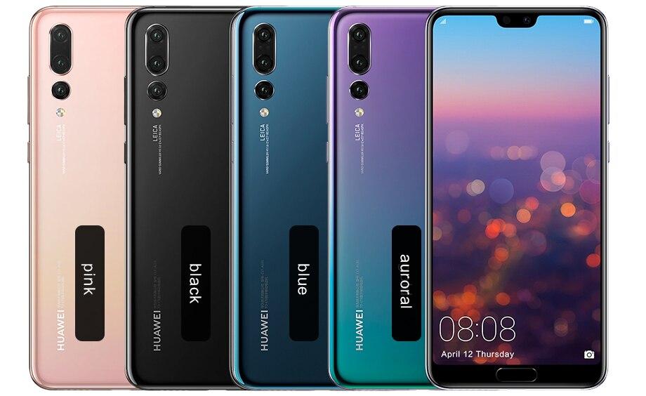 Huawei p20 pro novo original, 6gb 64gb kirin 970 octa core ip67 40mp android 8.1 face id relógio inteligente nfc