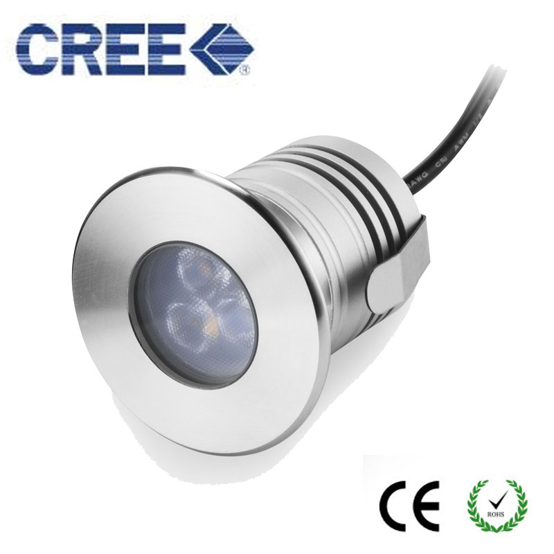 Stainless Steel 3W LED Swimming Pool Light Underwater Waterproof IP68 Landscape Lamp Warm/Cold White AC/DC 12V DHL free shipping ...