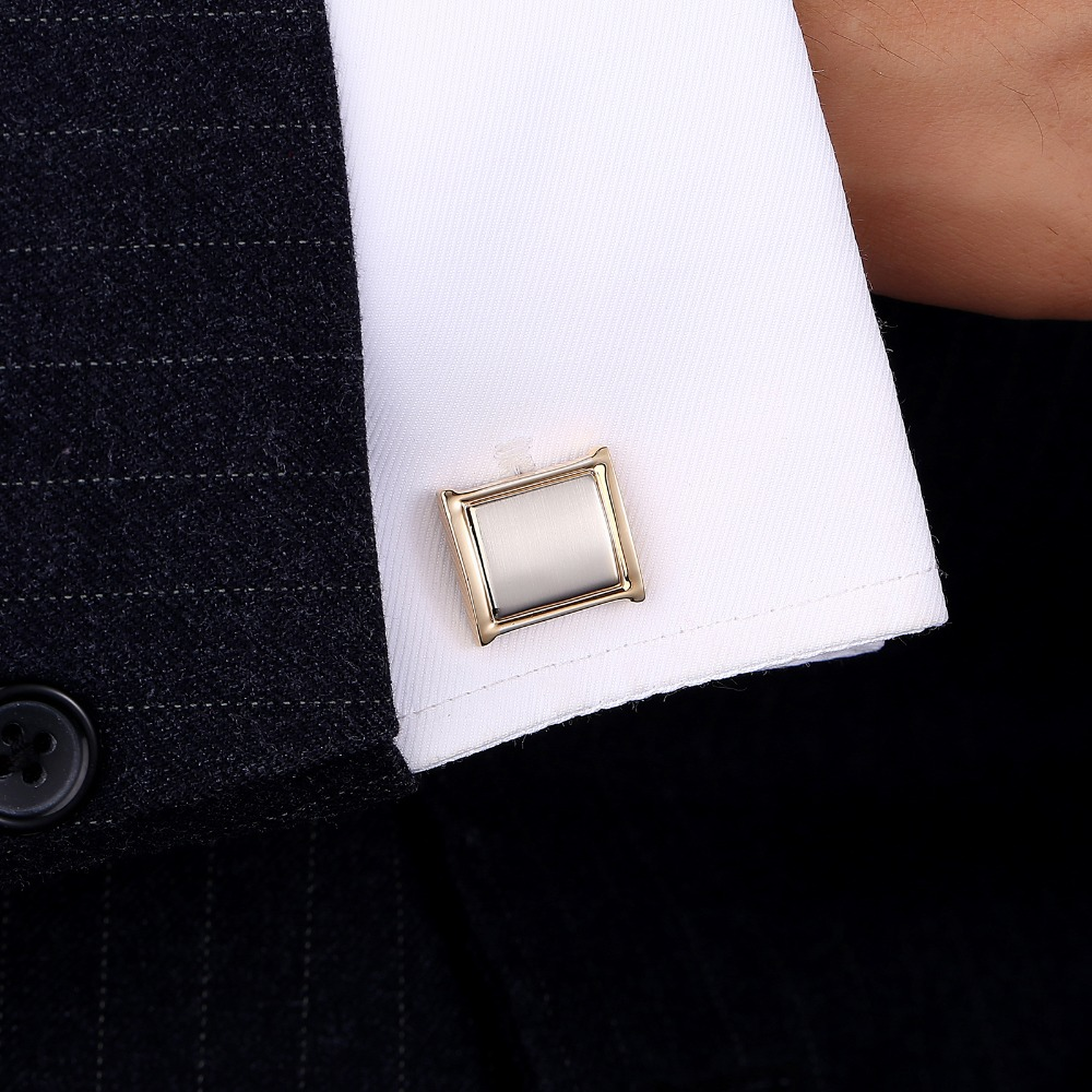 QiQiWu Cufflinks For Mens Shirt Gold High Quality Cufflink Cuff links Men Shirts Luxury Reception Gift For Men Party Best Man in Tie Clips Cufflinks from Jewelry Accessories