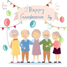 Laeacco Cartoon Grandparents Colorful Balloons Baby Photography Backgrounds Customized Photographic Backdrops For Photo Studio