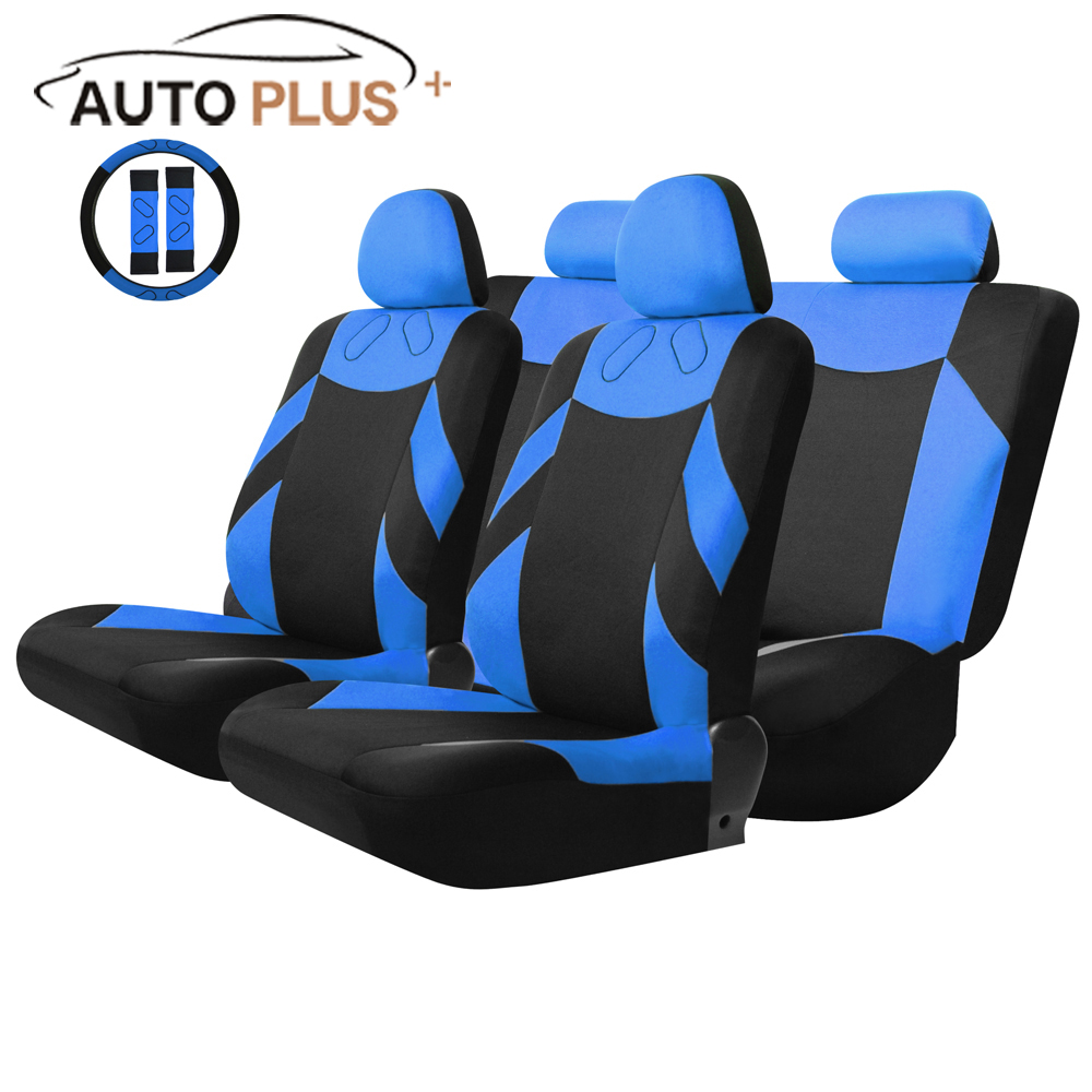 Universal 13PCS Car Seat Cover Front Seat Bench Seat Covers Wheel Cover Set Red/Blue/Gray/Beige for Lada Car styling Parts перкуссия и пэд millenium mps 400 stereo snare pad