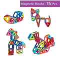 76PCS Magmagic Building Block Magnetic Toys Preschool Skills Educational Game Construction Stacking Sets&magnetic block toys