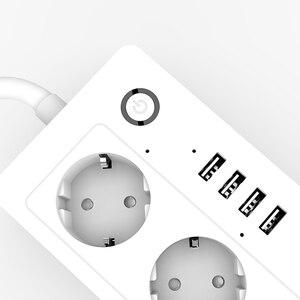 Image 5 - Lonsonho Tuya Multi Wifi Smart Power Strip rozszerzenie gniazdo USB ue wtyczka UK US 16A automatyka domowa współpracuje z Alexa Google Home