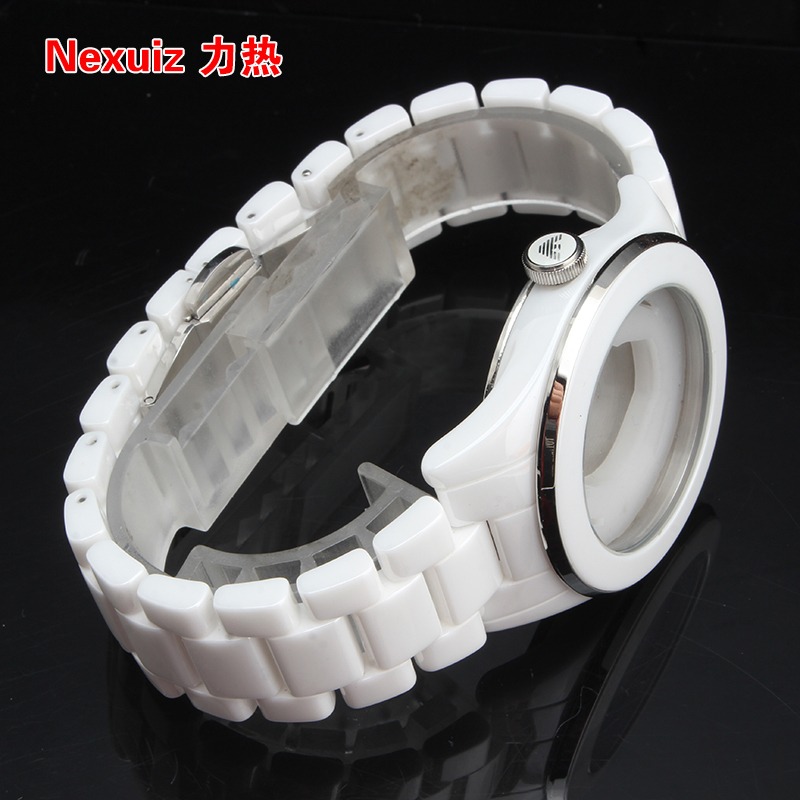 NEW Watchbands,High Quality Ceramic Watchband WHITE Diamond Watch fit AR1425  Man watches Bracelet  WATCHBAND new watchbands 18mm high quality ceramic watchband black diamond watch fit ar1412 women watches bracelet watchband