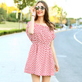 Veri Gude Summer Dress Ladies Polka Dot Dress Summer Dress Ruffles Mini Dress