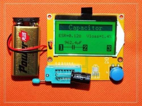 NEW DIY kits LCD Mega328 Transistor Tester Diode Triode Capacitance ESR Meter NPN L/C/R
