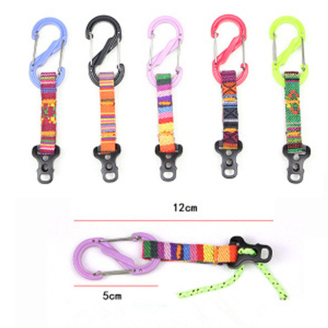 1Pc S/D Type Tent Reflective Wind Rope Buckle Multifunction Outdoor Camping Tent Rope Buckle Wind Rope Stopper Tent Accessories