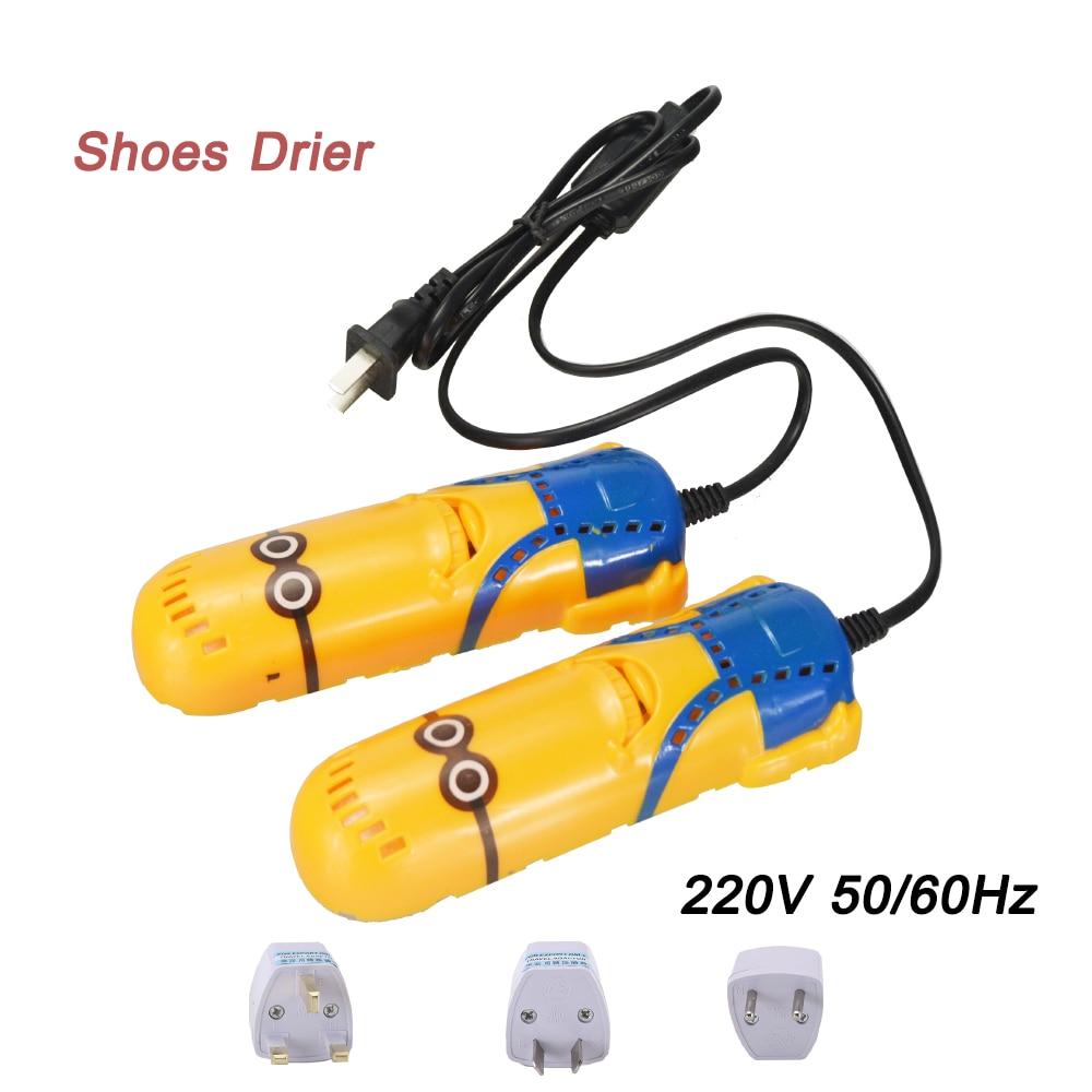 แบบพกพา 220 โวลต์เครื่องเป่ารองเท้าอัลตราไวโอเลตรองเท้าฆ่าเชื้อรถรูปร่าง Voilet แสงเครื่องทำน้ำอุ่นเครื่องเป่าสำหรับรองเท้าบูตเครื่องทำน้ำอุ่นอุปกรณ์รองเท้า