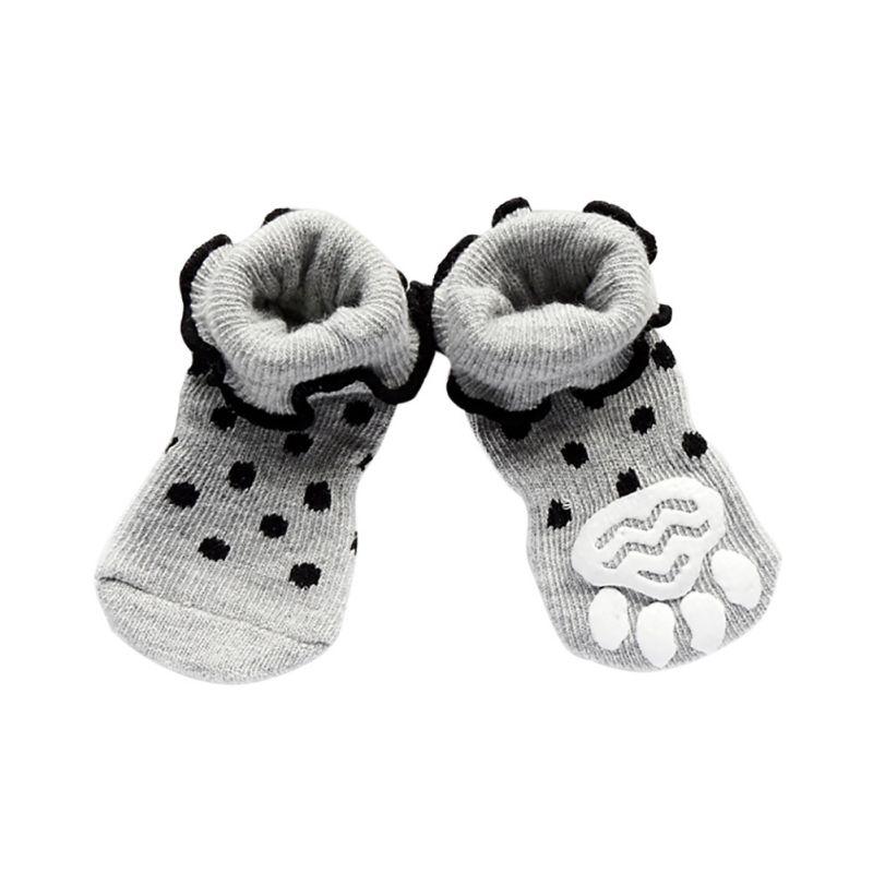 Jesen Zima Puppy Mali čarapa za pse Pamuk Pet cipele s dnom Non-slippery Topla čarapa 4 Kom Psi Skid Shoes Hot Prodaja