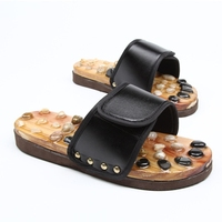 Foot Massage Slippers Pebble Stone Reflexology Feet Acupuncture Health Shoes Sandals Slippers Healthy Massager Foot Care