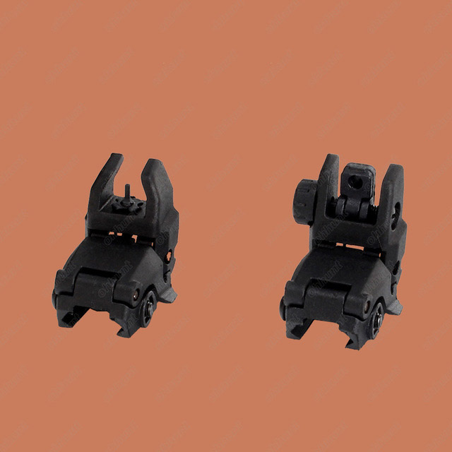 Hunting AR 15 M16 Front Rear Sight Set Rapid Transition Polymer Flip up Sights with Picatinny Rail for 1913 Handguards(China)