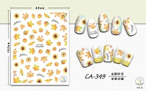 Image 5 - 1 Sheet Nail Art 3D Decals  Maple Leaves Autumn Theme Nail Sliders Decor Tips Leaf Sticker For Nail Art