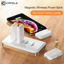 Cafele Magnetic Mini Power Bank For iPhone Micro USB Type C Emergency External Battery For iPhone Xiaomi Huawei Portable Charger