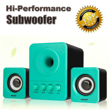 Hi performance usb computer speakers with subwoofer multimedia 2.1system bass audio for laptop notebook phone desktop pc speaker