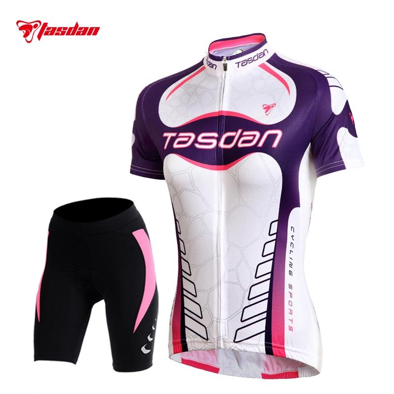 Tasdan Women 39 s Cycling Jersey Sets Spring Summer Shorts Cycling Suits Shorts MTB Shorts ports Cycling Gear in Cycling Sets from Sports amp Entertainment