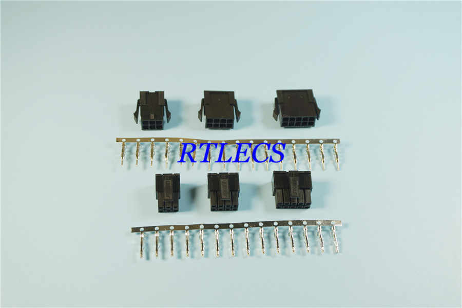 50pcs 3 0 mm Micro-Fit 3 0 Connector Receptacle Housing 2 Pin 4 6 8 10 12  14 16 18 20 22 24 +Plug Housing + Terminal 43020 43025
