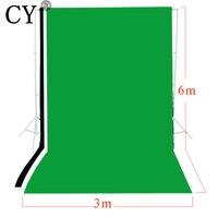 CY фотостудия 3 м x 6 одноцветное черный, белый цвет зеленый экран Муслин набор фоновых изображений фотографии фоны комплект задних фонов