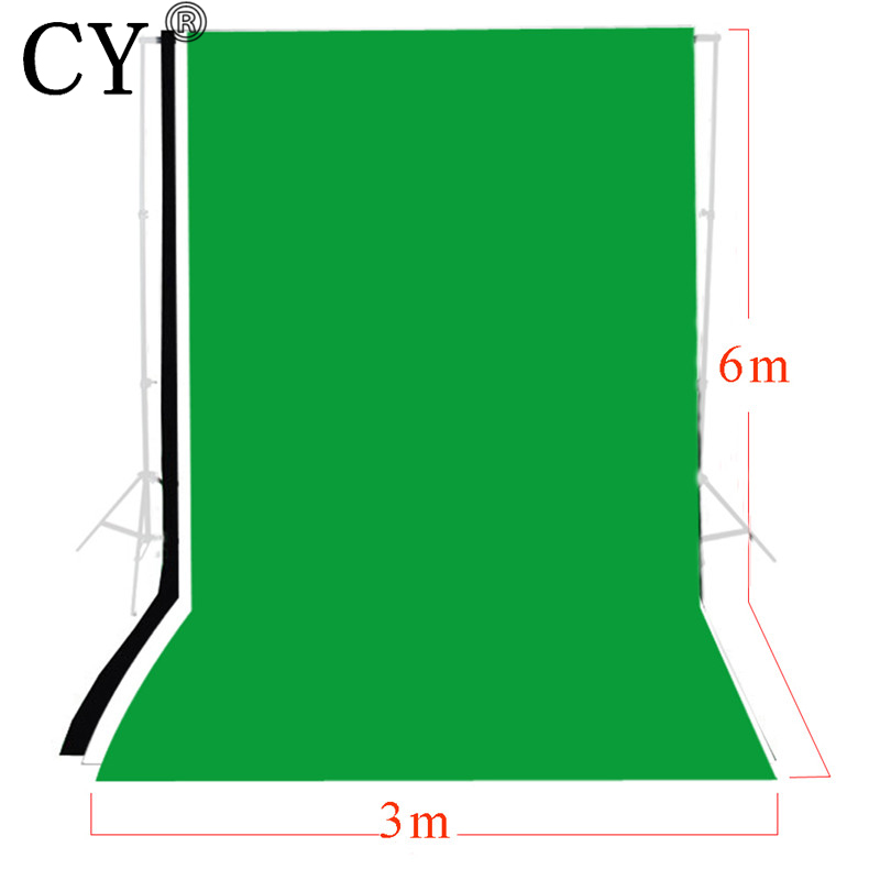 CY Photo Studio 3m x 6m Solid Black White Green Screen Muslin Backdrop Set Photography Backgrounds Backdrops Kits трусы слипы infinity lingerie цвет изумрудный
