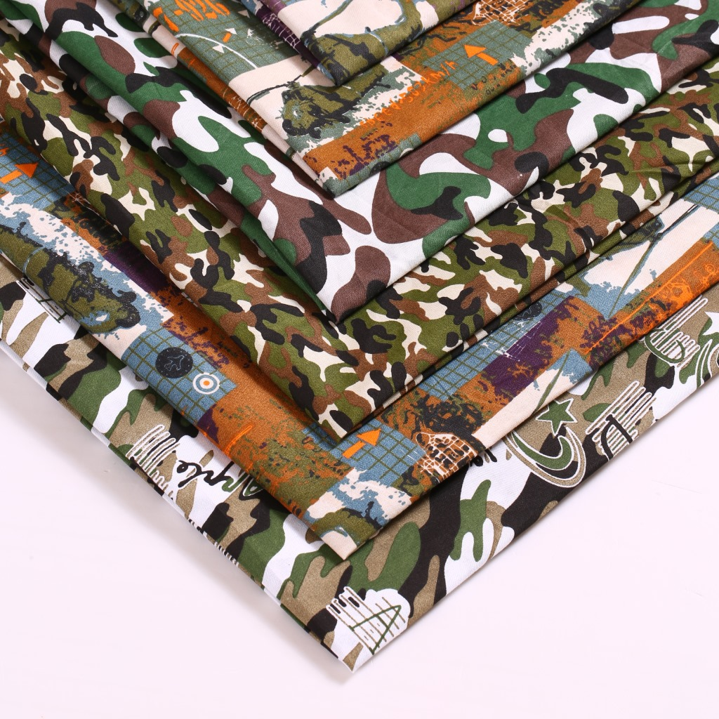 45130 50 147cm Camo 100 Polyester Fabric For Tissue Kids
