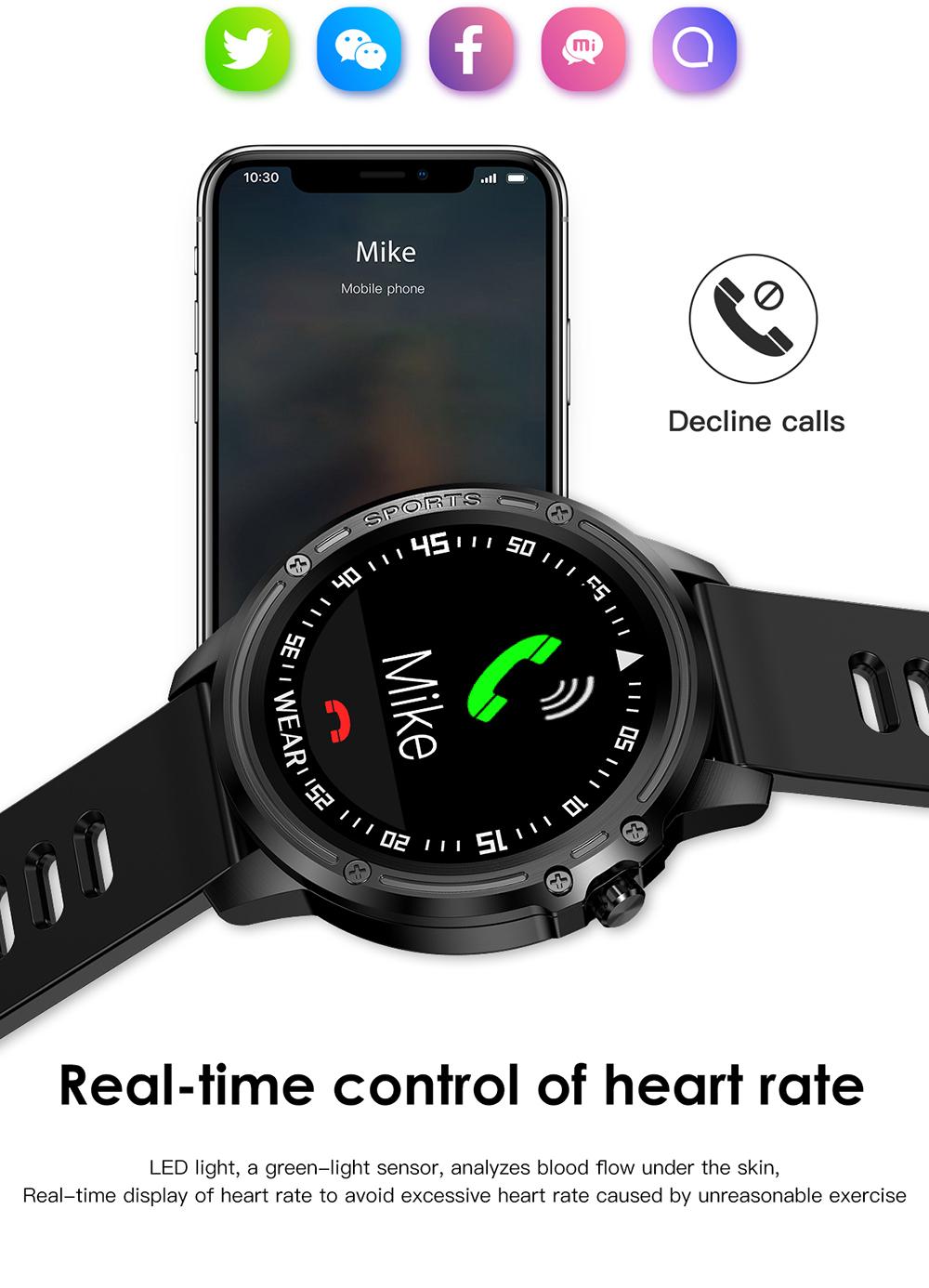 Reloj inteligente L8 IP68 para Hombre, Reloj inteligente resistente al agua con ECG presión arterial mediante PPG, relojes deportivos para fitness 11