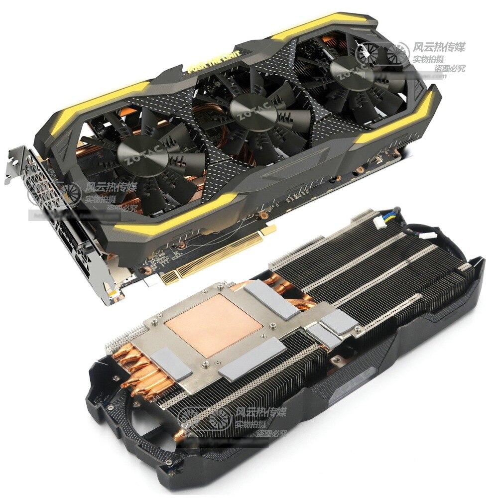 Nouveau Original pour ZOTAC GTX1070 GTX1080 AMP extrême ventilateur refroidisseur de carte graphique avec dissipateur de chaleur