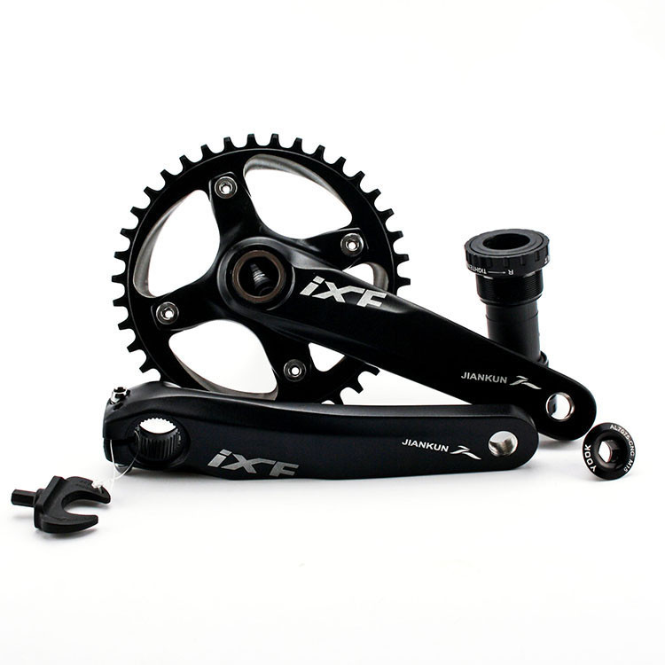 IXF Cycling mountain bike crankset 11-speed crankset 36T 38T 40T tooth disc sign single speed teeth tooth disc tray mountain bike four perlin disc hubs 32 holes high quality lightweight flexible rotation bicycle hubs bzh002