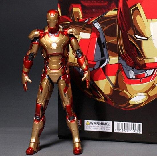 Image 3 - Marvel The Avengers Stark Iron Man 3 Mark VII MK 42 43 MK42 MK43 PVC Action Figure Collectible Model Toys 18cm KT395model toytoy markthe avengers -