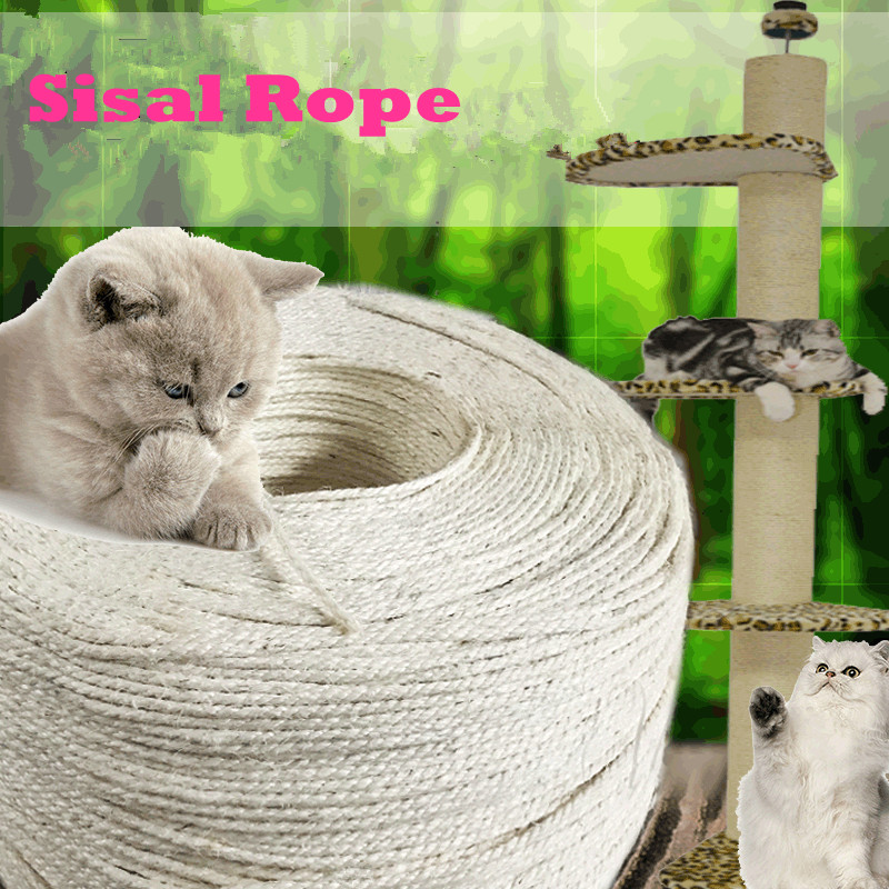 Sisal Rope For Cat Tree Cat Climbing Frame Diy Cats Scratching Post Toys Making Desk Legs Binding Rope For Cat Sharpen Claw #3