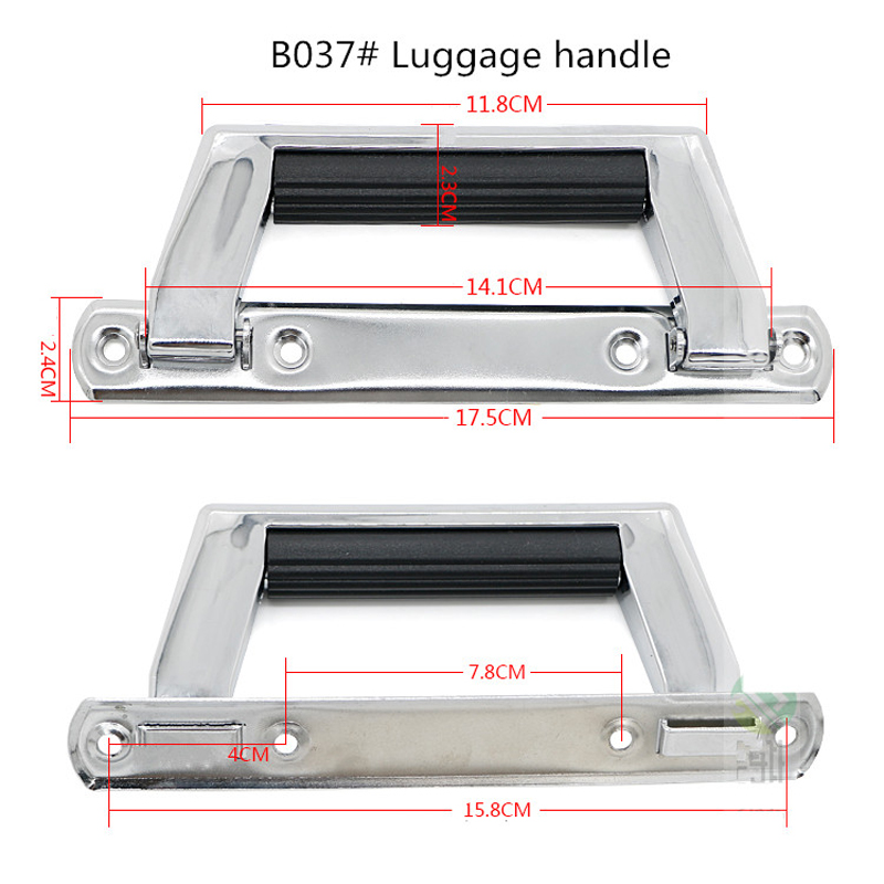Replacement Metal Aluminum Suitcase Handle/Repair Retractable Luggage Handle,Replacement Telescopic luggage parts handle