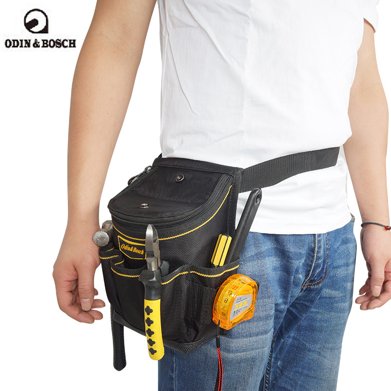 Odin&Bosch electrician tool bag multi-functional maintenance plus thick cover tool waist bag electrician belt hoomall tool kit multi functional maintenance electrical shoulder bag large thick canvas oxford cloth tool bag