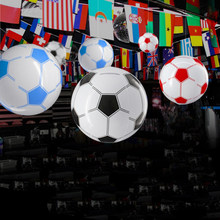 2018 Decoration Football Pvc Inflatable Soccer Goal Ceiling Hanging Decorations For Club Bar Home Sport Theme Party