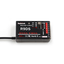 RadioLink R9DS 2 4G 9CH Receiver for RadioLink AT9 AT10 Transmitter RC Helicopter Multirotor Support S