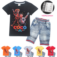 2018 summer children's clothing set cartoon T-shirts boys girls five nights in freddy shirts pants 5 freddys kids clothes sets