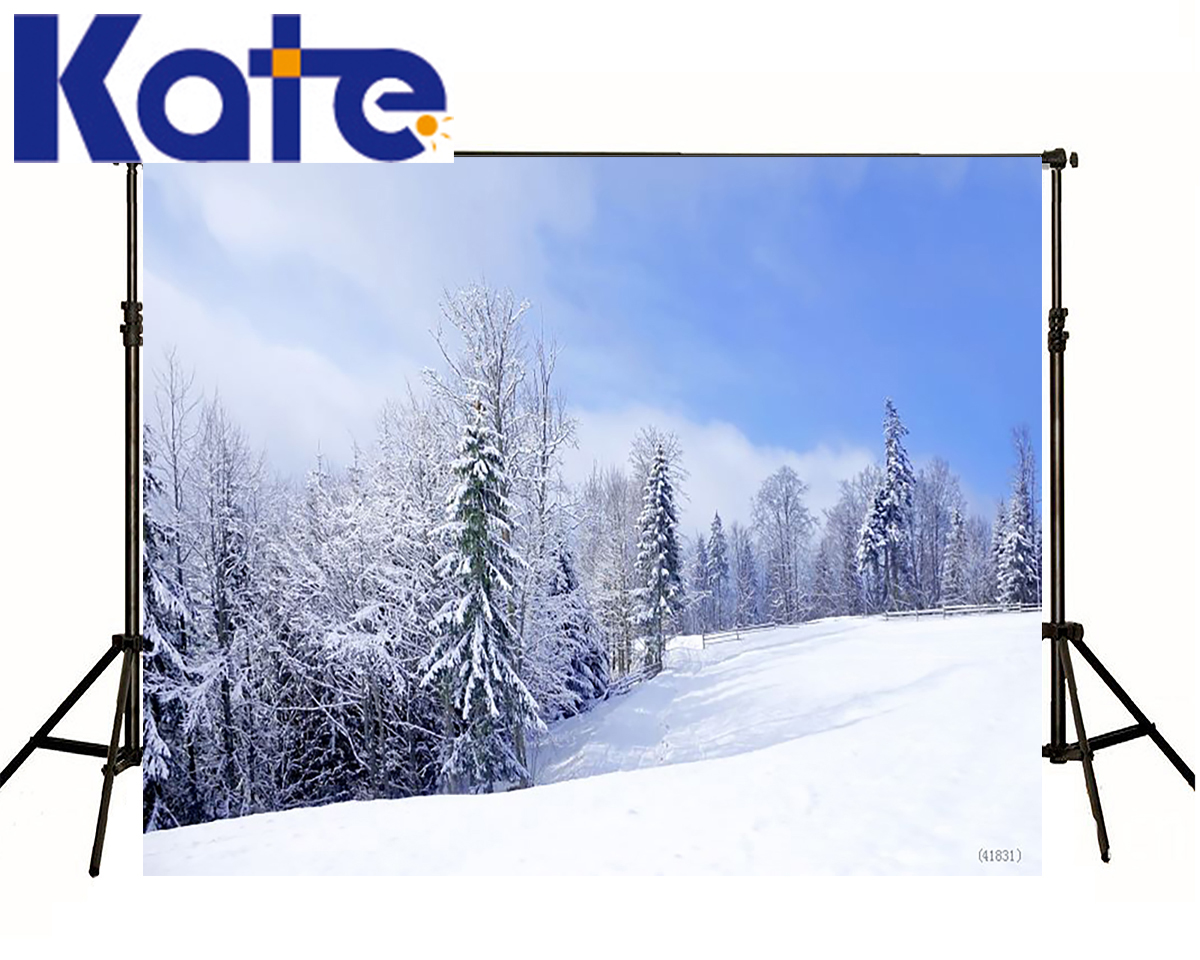 KATE Christmas Winter Background Photo Snow Forest Tree Scenery Backgrounds Photography Blue Sky Backdrops For Photo Studio free shipping 100% tested washing machine board for haier pc board program 50 66gm xqb50 66g xqb50 i xqb52 38 xqb55 a on sale