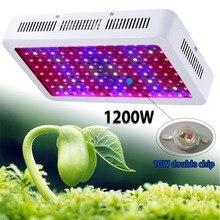 Расти Светодиодные Лампы 1200 Вт Двойные Чипы ПРИВЕЛО Светать Полный Спектр 410-730nm Для Комнатных Растений и Цветов Фразу с Очень Высоким Выходом