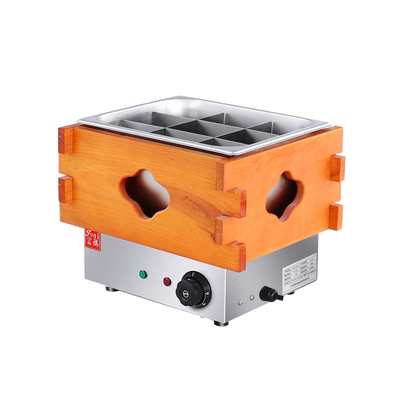 EH-10 Wooden Box Single Pot Oden Machine Convenience Store String Fragrant Equipment 9 Grid Electric Oden 220VEH-10 Wooden Box Single Pot Oden Machine Convenience Store String Fragrant Equipment 9 Grid Electric Oden 220V