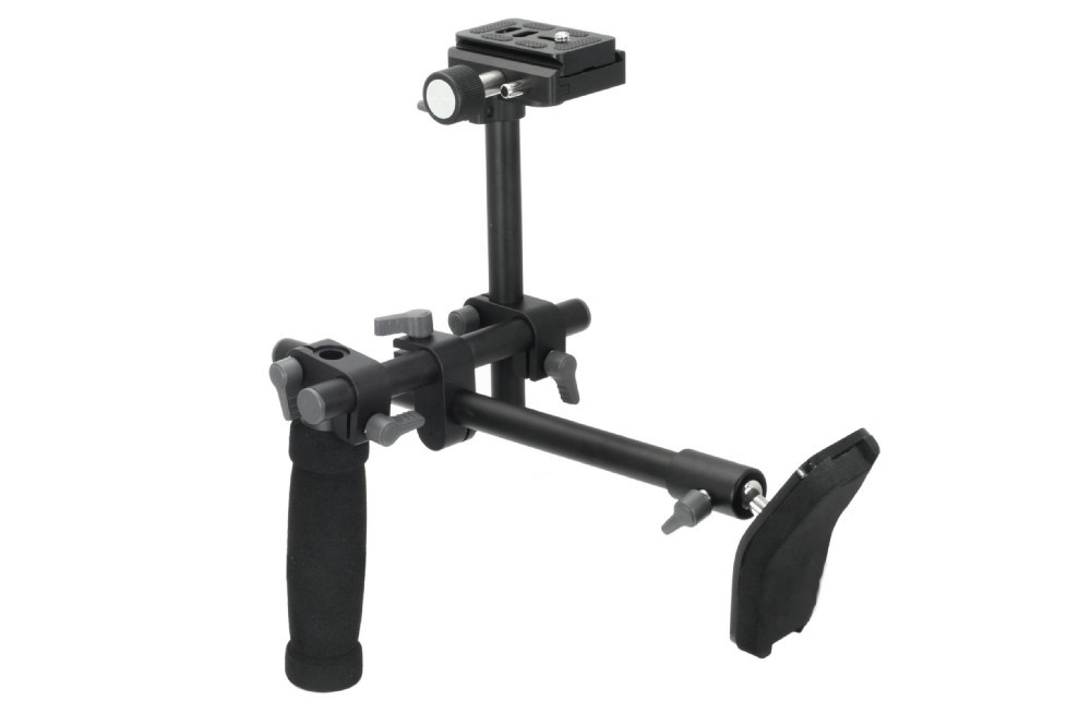 DSLR Handle Shoulder Support Rig shoulder support stabilizer rig quick release plate for A7 R A7II Digital video Camera DVD dslr rig double hand handgrip shoulder