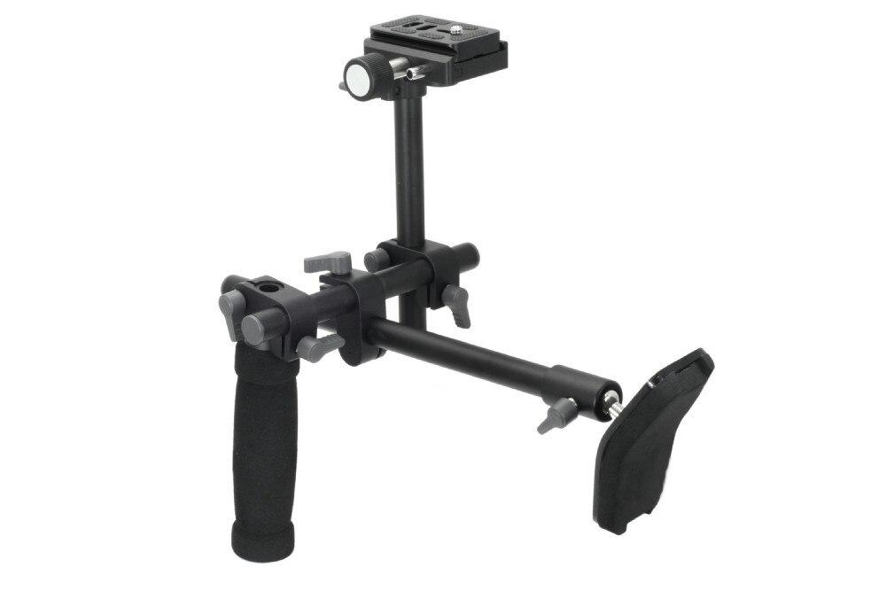 DSLR Handle Shoulder Support Rig shoulder support stabilizer rig quick release plate for A7 R A7II Digital video Camera DVD