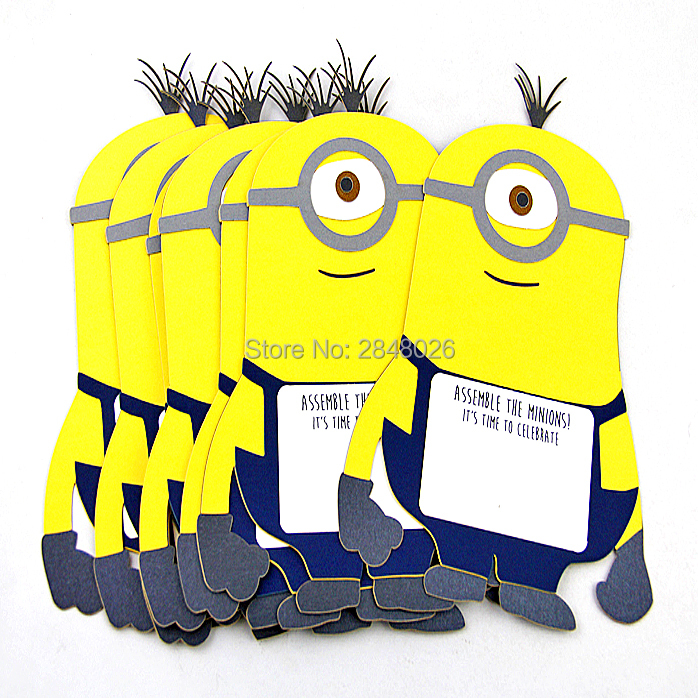 Custom Minions Invitations For BirthdayHappy Birthday Invitation Cards