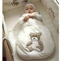 100% primavera verão bebê fino saco de dormir de algodão macio respirável padrão lindo urso recém-nascidos anti kick colcha cobertor bb069