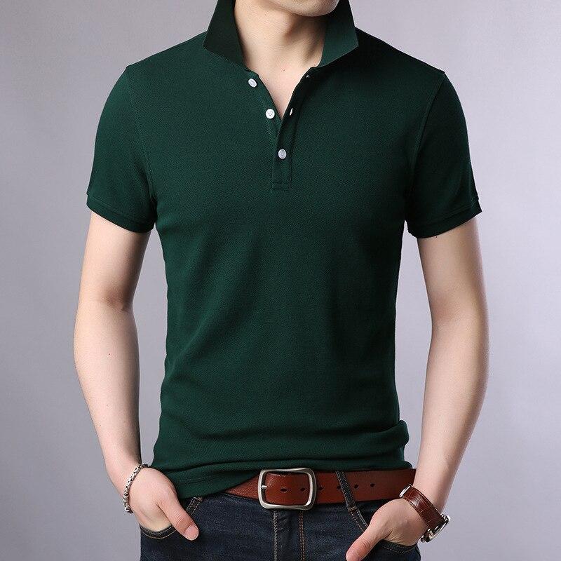 Summer 2019 New Fashion Mens   Polo   Shirt Brand Short Sleeve Slim Fit Shirts Men 100% Cotton Leisure Bottom Shirt Male   Polo   Shirts