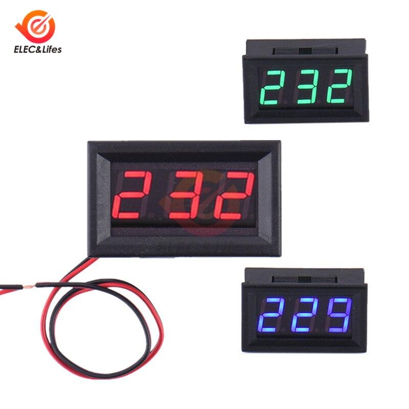 0.56 Inch AC 70V-500V Digital Voltmeter 2-Wire 0.56'' LED Tube Display Voltage Tester Detector Volt Monitor Meter