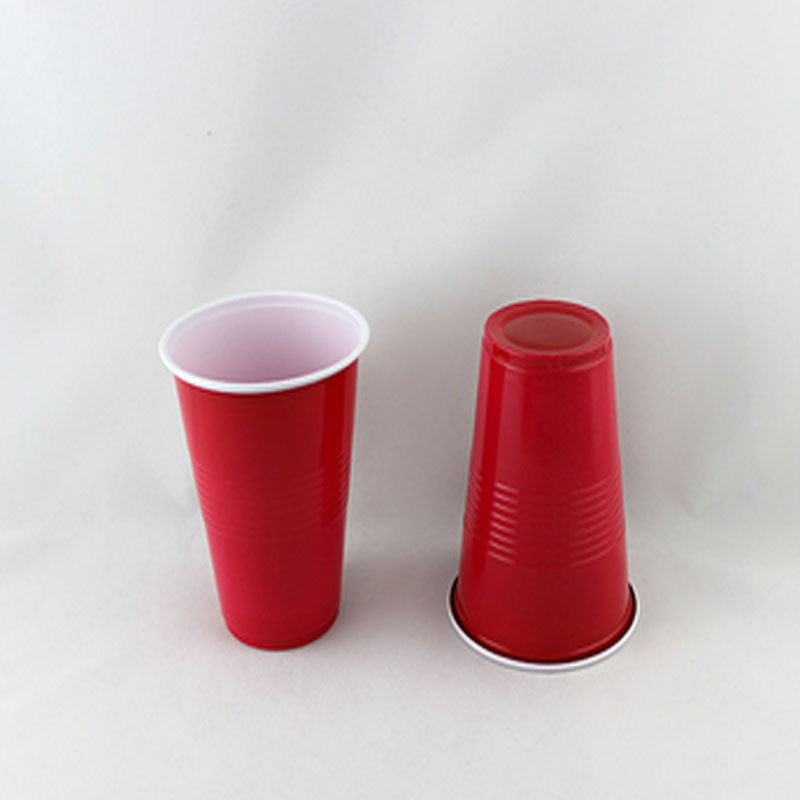 50pcs Solid redblue Plastic Cups Insulated Solo Cup 16oz