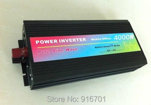 4000 Вт чистый синус инвертор 4000 Вт Чистая синусоида Инвертор (12 В или 24VDC 220VAC 230VAC 240VAC или 100VAC 110VAC 120VAC 8KW пиковый)