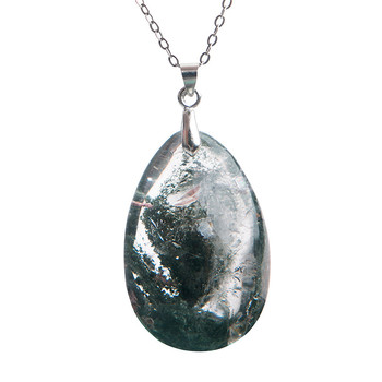 Phantom Quartz Healing Crystal Necklace4