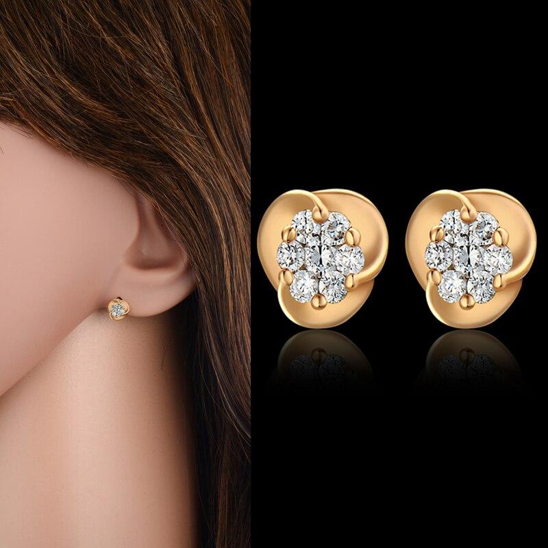 High End AAA Zircon Small Stud Earrings, Fashion Ear Studs Women ...
